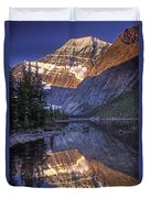 Mt Edith Cavell Reflection Duvet Cover