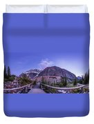 Mt. Edith Cavell Trail At Twilight Duvet Cover