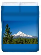 Mt. Hood And Pine Trees Duvet Cover