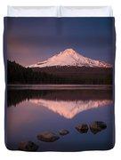 Mt Hood Reflection Duvet Cover