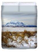 Mt Illimani In Winter Duvet Cover