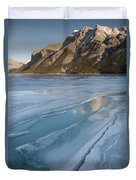 Mt. Inglismaldie And Ice Formations Duvet Cover
