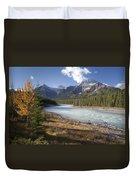 Mt Kerkeslin And Athabaska River Jasper Duvet Cover