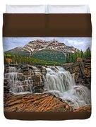 Mt. Kerkeslin  Athabasca Falls Duvet Cover