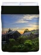 Mt Leconte Before Dawn Duvet Cover by Debra and Dave Vanderlaan