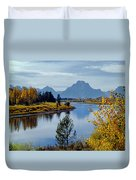 1m9208-mt. Moran And The Snake River, Wy Duvet Cover