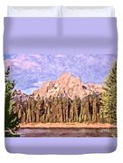 Mt Moran From Colter Bay Duvet Cover