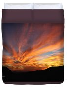 Mt Ord Sunset Arizona Duvet Cover