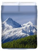 1m3627-mt. Outram And Mt. Forbes Duvet Cover