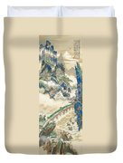 Mt Penglai Mountain Of Immortals Duvet Cover