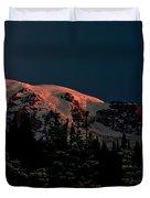 Mt Rainier At Dawn Duvet Cover