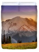 Mt. Rainier Sunset 2 Duvet Cover