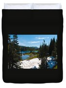 Mt. Rainier Wilderness Duvet Cover