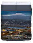 Mt Saint Helens During Blue Hour Duvet Cover