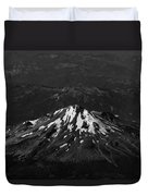 Mt Shasta Black And White Duvet Cover