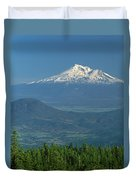 1a5637-mt. Shasta From Oregon Duvet Cover