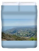 Mt. Soledad - View To The North Duvet Cover