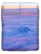 Above The Clouds At Sunset Duvet Cover