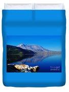 Mt St Helens Reflecting Into Spirit Lake   Duvet Cover