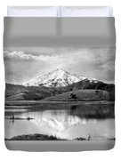 Mt. Tamalpais In Snow Duvet Cover