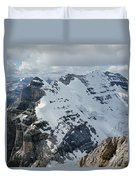 T-703510-mt. Victoria Seen From Mt. Lefroy Duvet Cover