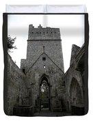 Muckross Abbey Steeple Duvet Cover