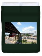 Mud Island In Memphis Duvet Cover