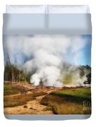 Mud Volcano And Sulphur Caldron  Duvet Cover