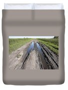 Muddy Country Road Duvet Cover