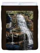 Muddy Creek Falls At Low Water At Swallow Falls State Park In Western Maryland Duvet Cover