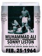 Muhammad Ali Poster Duvet Cover