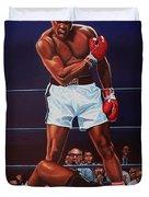 Muhammad Ali Versus Sonny Liston Duvet Cover by Paul Meijering