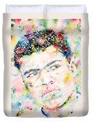 Muhammad Ali - Watercolor Portrait.1 Duvet Cover