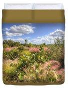 Muhly Grass And Sea Grape Plants Along A Florida Coastline Duvet Cover