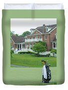 D12w-289 Golf Bag At Muirfield Village Duvet Cover