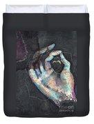 Muladhara - Root 'blue Hand' Chakra Mudra Duvet Cover