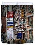 Mulberry Street New York City Duvet Cover