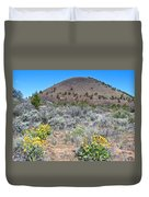 Mule's Ears And Schonchin Butte In Lava Beds Nmon-ca Duvet Cover
