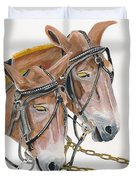 Mules - Two - Beast Of Burden Duvet Cover