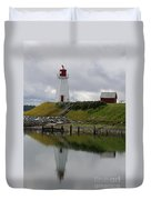 Mulholland Point Lighthouse - New Brunswick Duvet Cover
