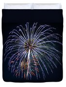 4th Of July Fireworks 12 Duvet Cover by Howard Tenke