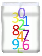 Multi-color Numbers Duvet Cover