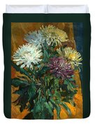 Multi Colored Chrysanthemums Duvet Cover