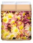 Multi-colored Daisies Duvet Cover
