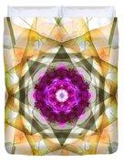 Multi Flower Abstract Duvet Cover