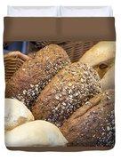Multi Grain Bagels Closeup Duvet Cover