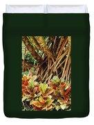 Multicolored Codiaeum Duvet Cover