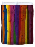 Multicolored Paint Can  Duvet Cover