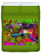 Multicolored Reflections Duvet Cover