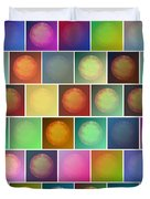 Multicolored Suns Duvet Cover
